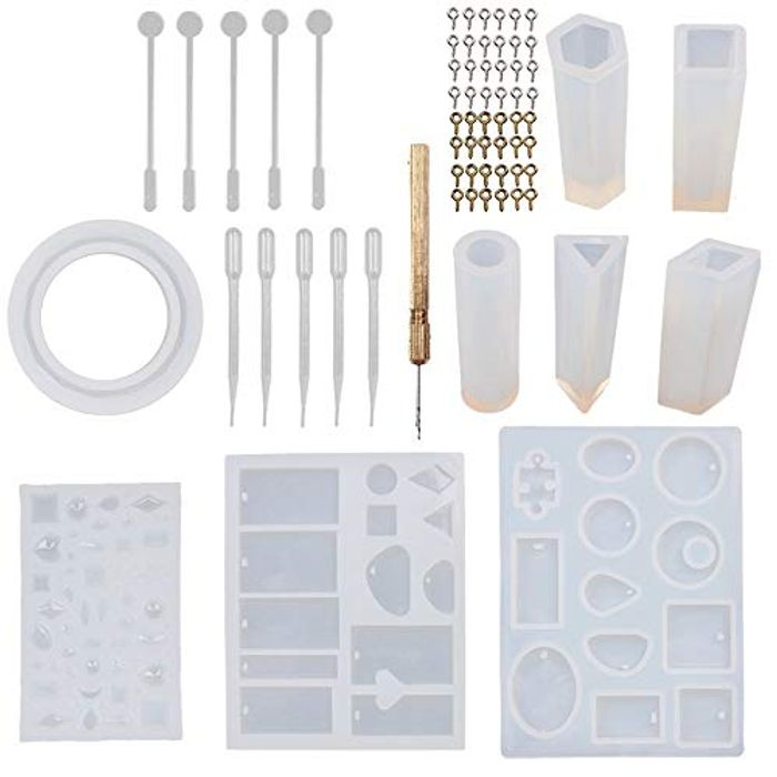 68pcs Resin Mould Kit