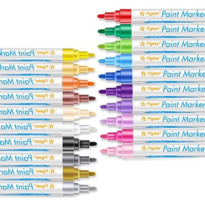 Acrylic Paint Pens - Set of 20 Premium Marker Pens