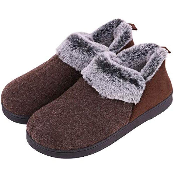 VeraCosy Ladies' Wool-like Fleece Clog Slippers