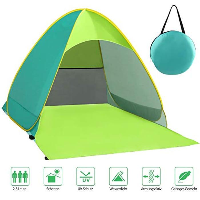 DEAL STACK - Karvipark Pop up Portable Light Beach Tent + £3 Coupon