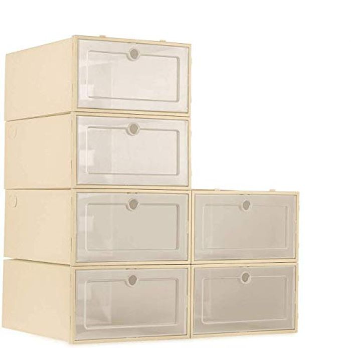 DEAL STACK - ZODDLE Foldable Stackable Shoe Storage Boxes + 15% Coupon