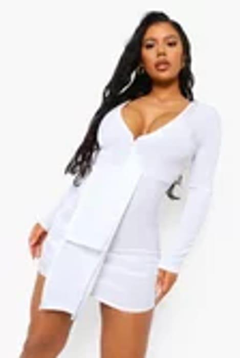 Textured Slinky Drape Mini Dress Now £12.00 at Boohoo