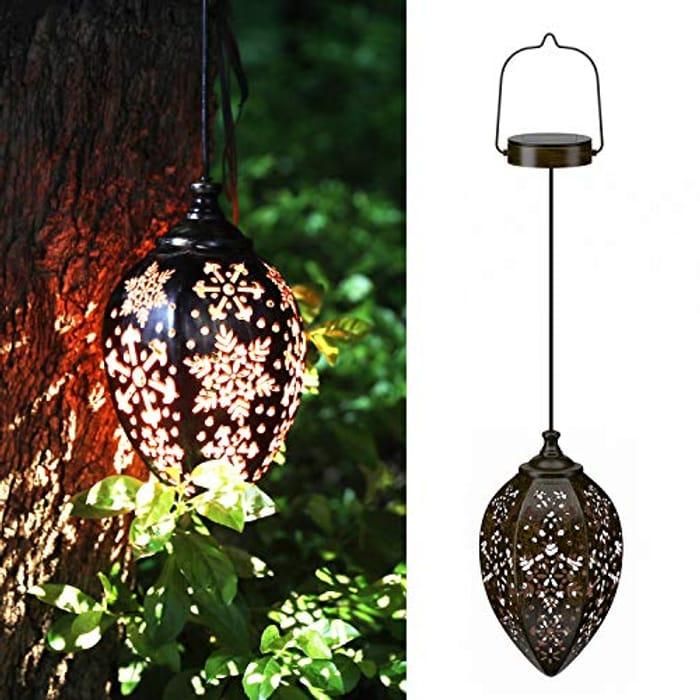 KOOPER Solar Vintage Hanging Garden Lights - Only £10.79!