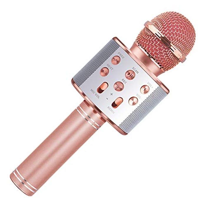 Wireless Bluetooth Karaoke Singing Microphone