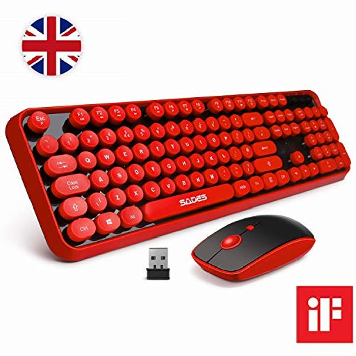DEAL STACK - SADES V2020 Wireless Keyboard and Mouse Combo + 10% Coupon