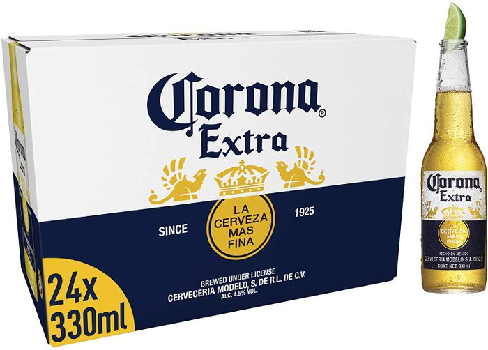 Corona Extra Mexican Lager Beer Bottle, 24 X 330ml