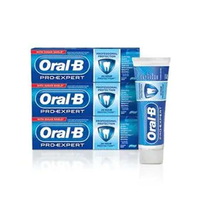 Oral-B Pro-Expert 3 Month Toothpaste Bundle Pro Protection 75ml
