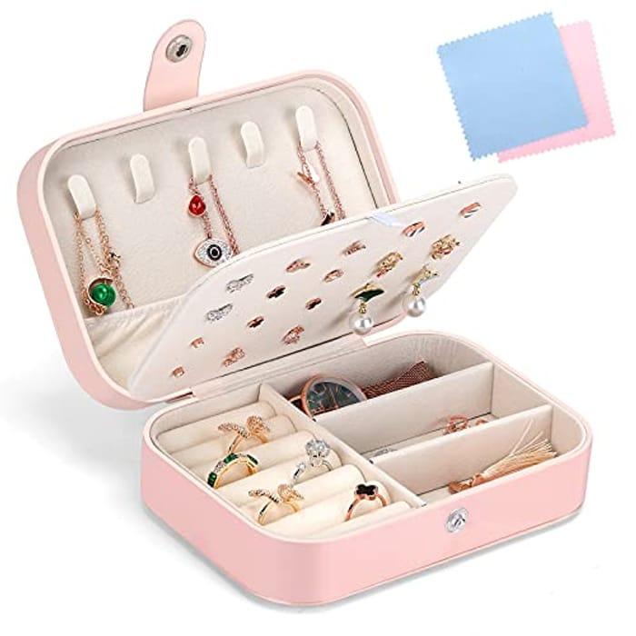 Gozlu Jewellery Box Organizer, Premium PU Leather Jewellery Storage Case