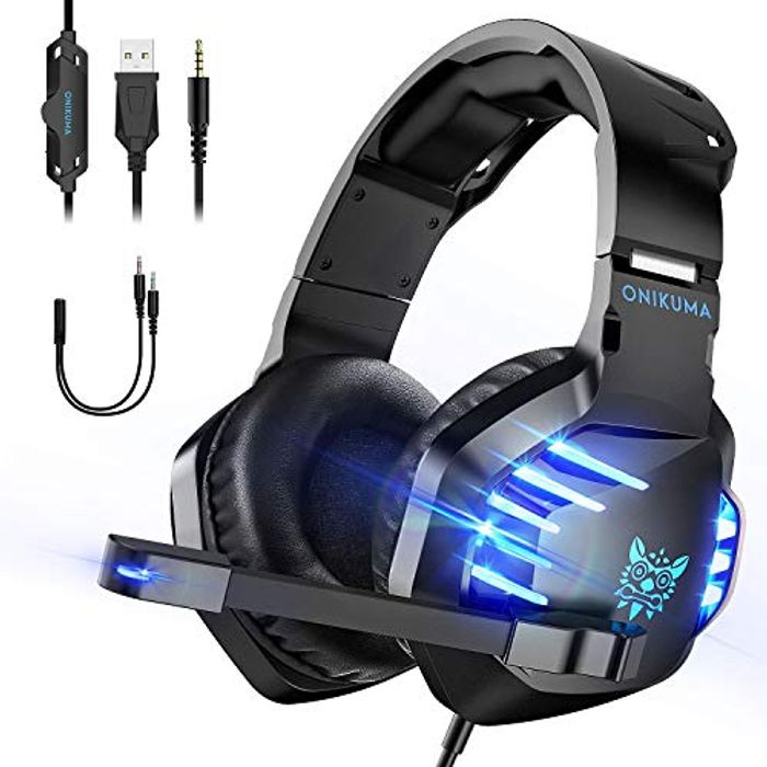 Gaming Headphones with LED Light
