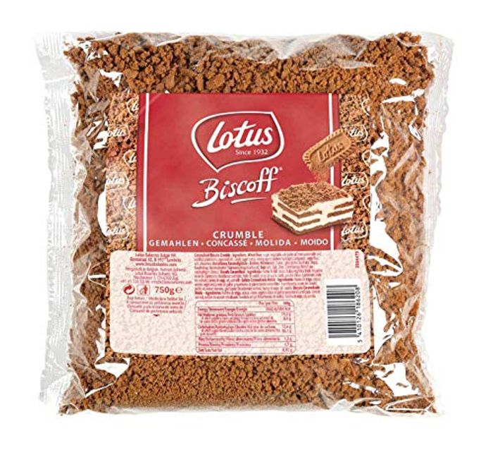 Biscoff Crumble, Crushed Speculos / Speculoos by Lotus 750g Min Order 3
