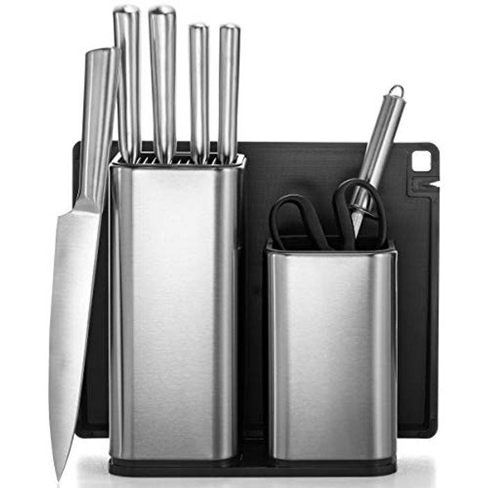 All-Inclusive 10-Piece Kitchen Knife Set with Block & Utensil Holder