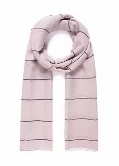 Light Pink Striped Day Scarf by Intrigue