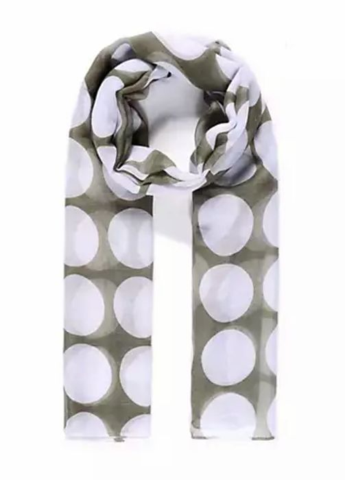 Large Polka Dot Print Scarf by Intrigue