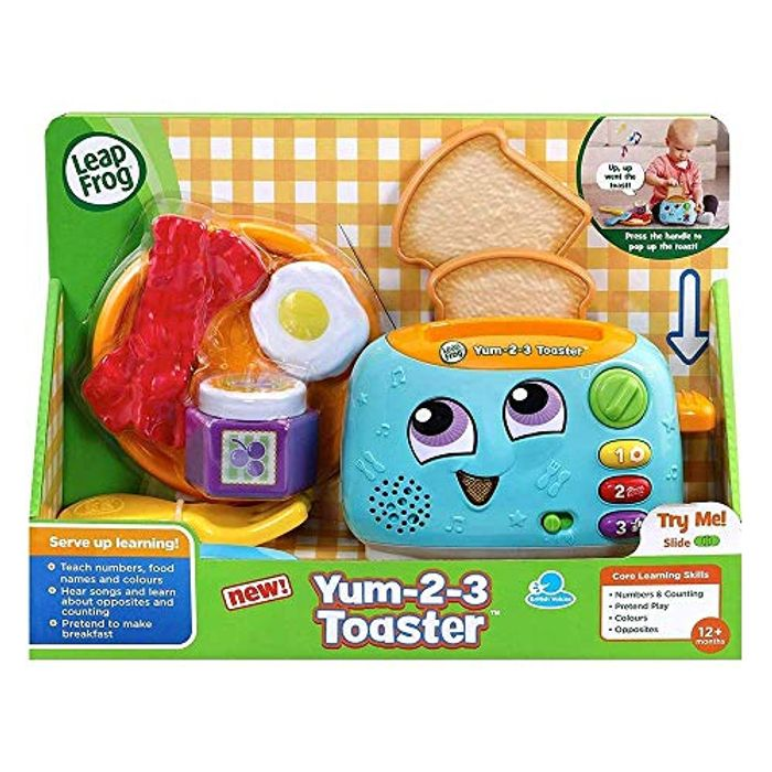Leapfrog Yum 2 3 Toaster Set with Sounds and Colours