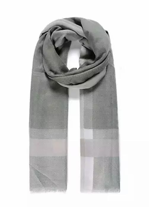 Green Colour Block Border Light Weight Pashmina by Intrigue