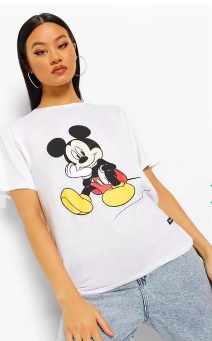 Disney X Boohoo Mickey Print Tee