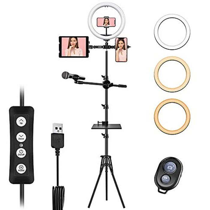 """Elegant Life 12"""" Ring Light with Tripod Stand - Only £10.98!"""