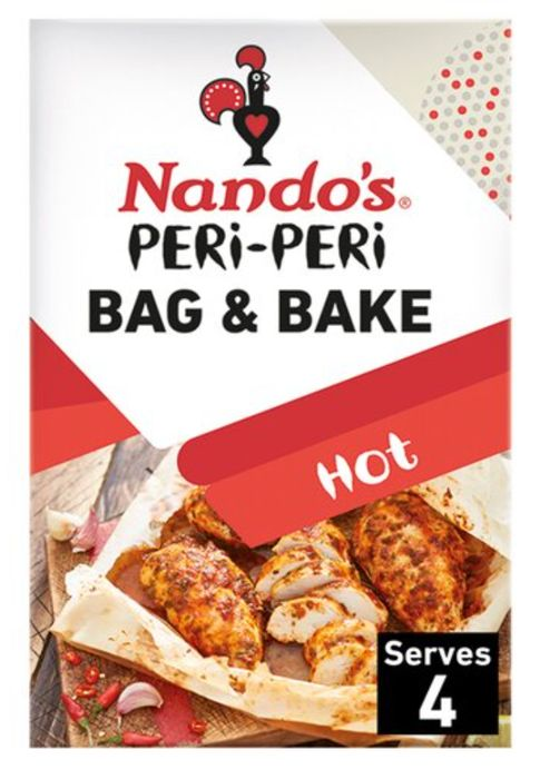 £1.00 Clubcard Price Nando's Peri Peri Bag & Bake Hot 20G