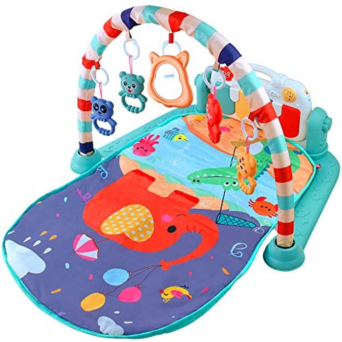 Baby Gym with Piano Music Lights Animals