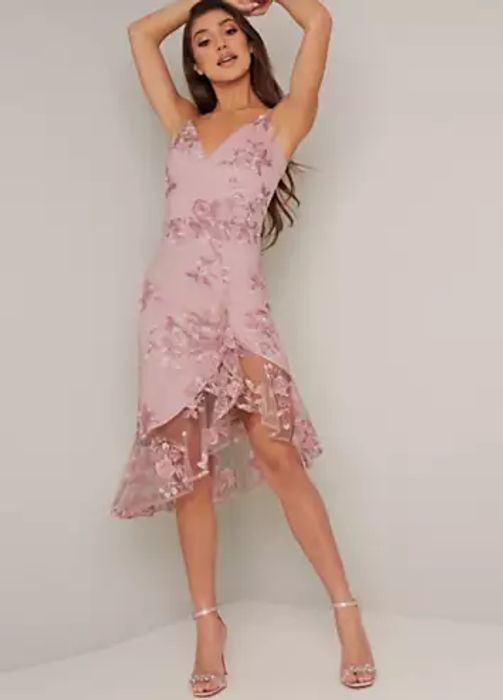 Chi Chi London Liliana Asymmetric Dress (Size 10)