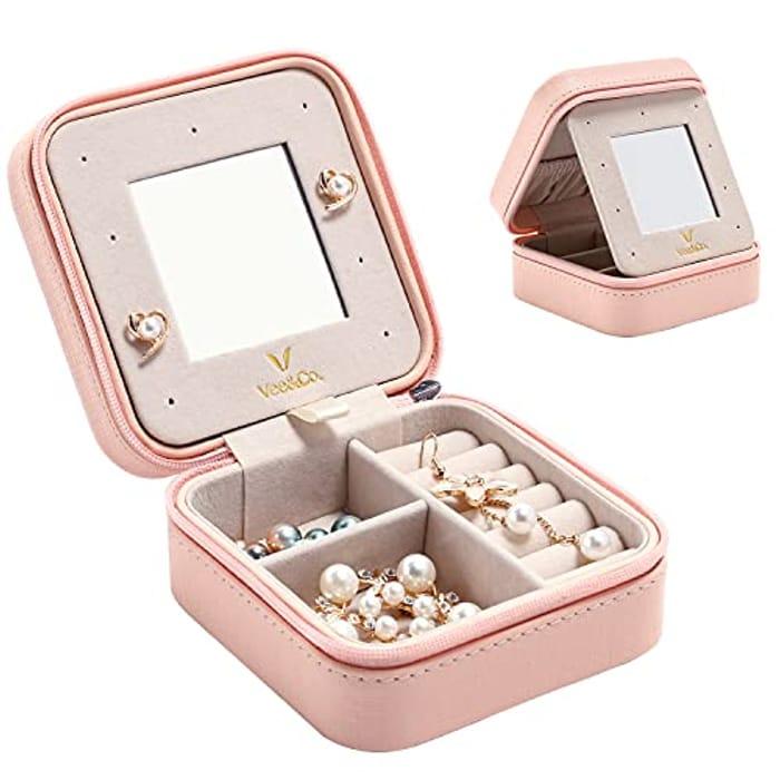 Vee Jewellery Box Organiser Small Travel Jewelry Storage Case