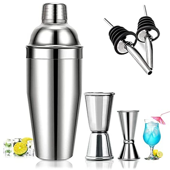 7 Piece Stainless Steel Cocktail Making Kit