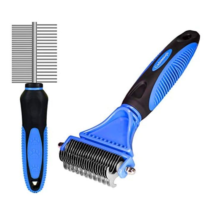 2 in 1 Pet Dematting Comb Tool