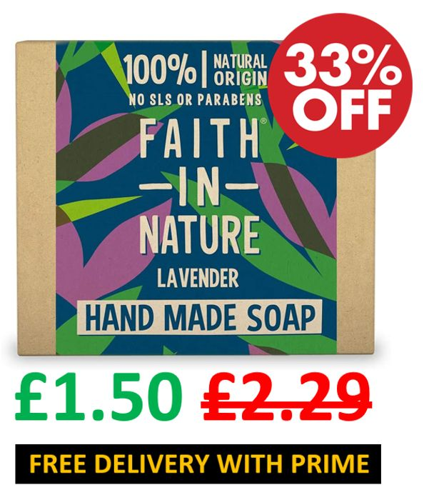 Faith in Nature Natural Lavender Hand Soap Bar