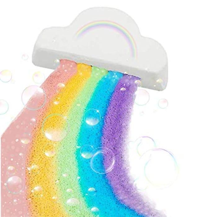 Rainbow Bath Bombs, Cloud Bath Bomb, Rainbow Cloud SPA - Only £5.94!