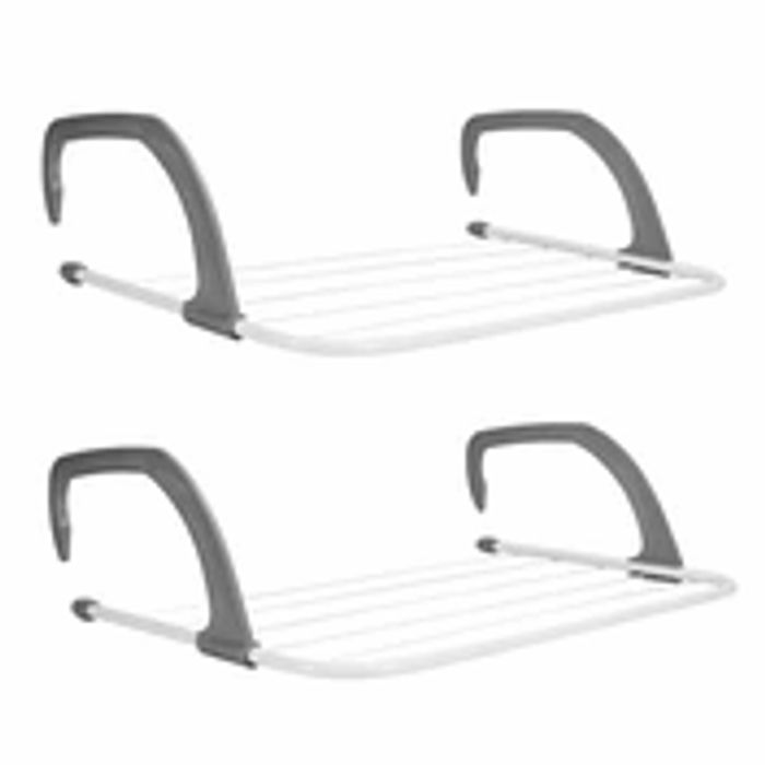 Set of 2 Radiator Clothes Airers
