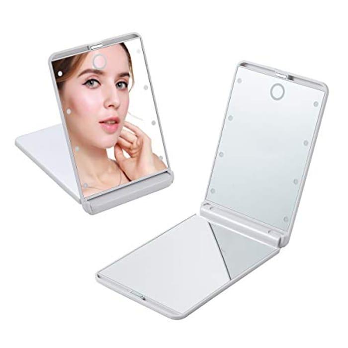 50% Voucher- Portable LED Lighted Makeup Mirror