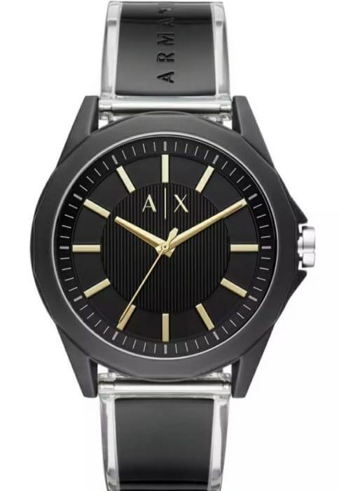 Cheap Armani Exchange Men's Black Silicone Strap Watch - Only £39.99!