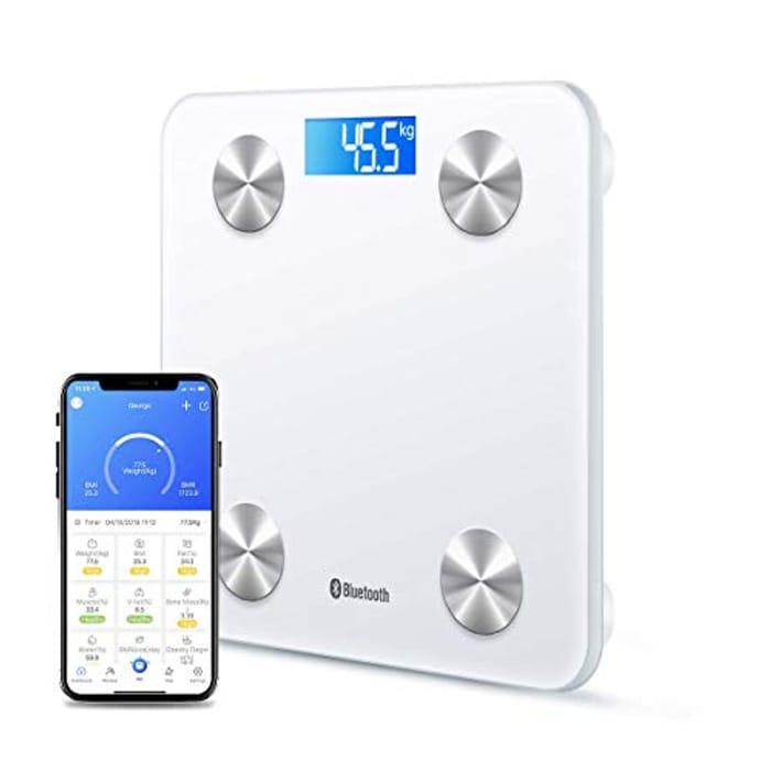 Bluetooth Digital Bathroom Body Fat Scale - Only £7.99!