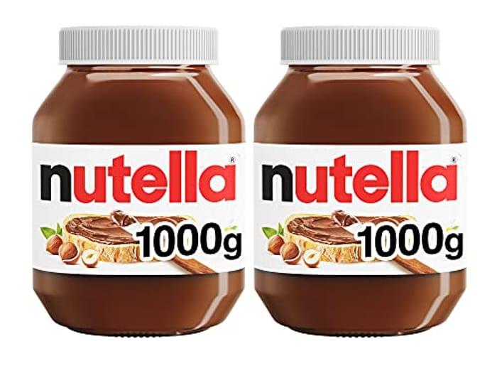 SAVE £3.24 - Nutella Hazelnut Chocolate Spread, 1 Kg, Pack of 2