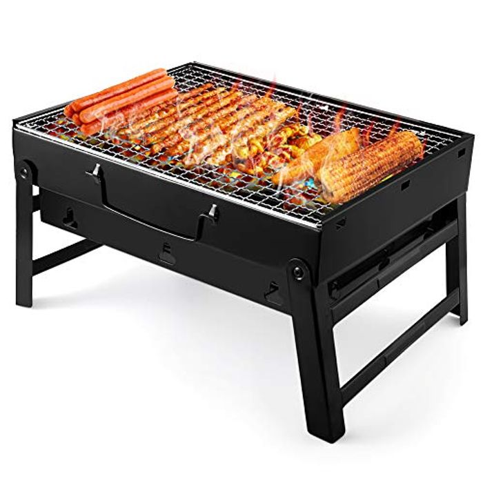 DEAL STACK - UTTORA Portable Folding Charcoal Barbecue Grill + 15% Coupon