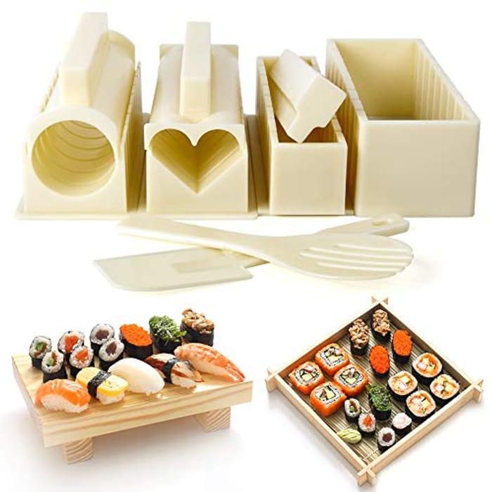 LIGHTNING DEAL - DIY Various Shapes Family Sushi Making Kit, 10 Pcs