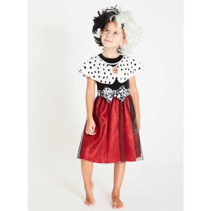 Disney 101 Dalmatians Cruella Dress & Wig