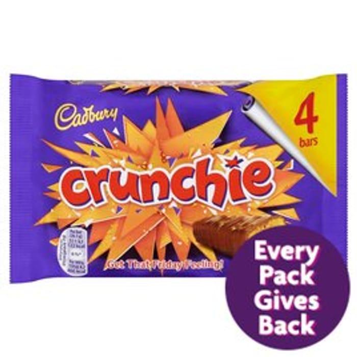Cadbury Crunchie Chocolate Bar 4 Pack