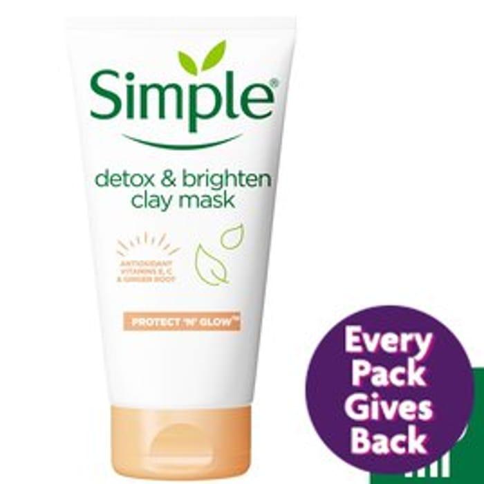 Simple Detox & Brighten Clay Mask Protect 'N' Glow50ml
