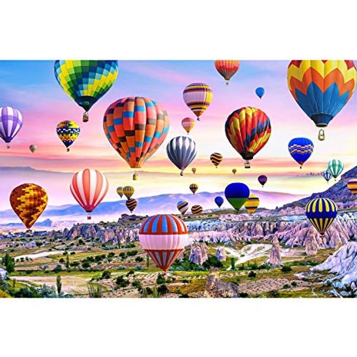 DEAL STACK - Runlycan Jigsaw Puzzle 1000 Piece - Hot Air Balloon