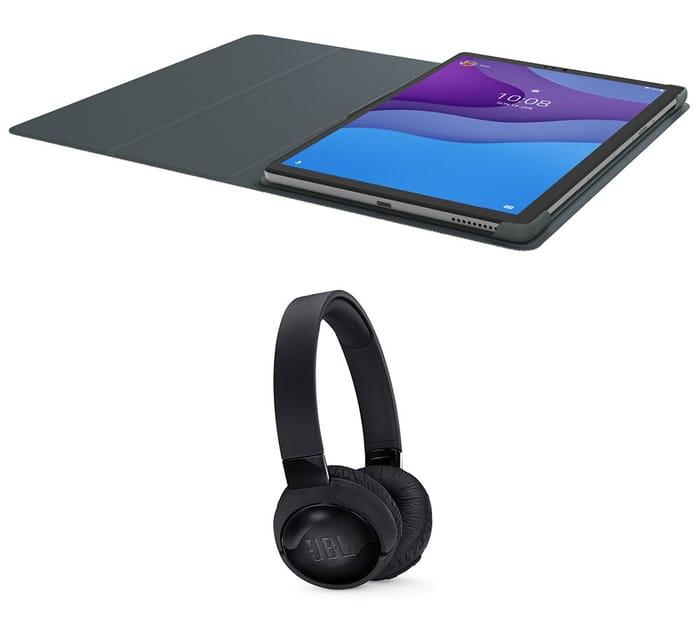 """LENOVO Tab M10 10.3"""" Tablet, Sleeve & JBL Wireless Headphones Bundle - 128 GB"""