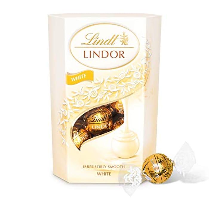 Lindt Lindor White Chocolate Truffles Box - 16 Balls / 200 G