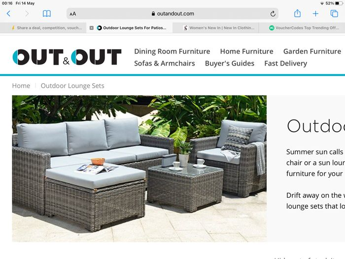 Out and out £100 off Garden Sets of Furniture