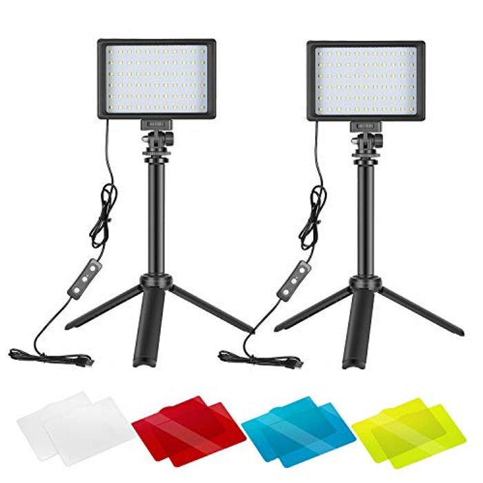 LIGHTNING DEAL - Neewer 2 Packs Portable Photography Lighting Kit