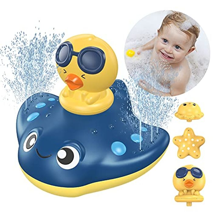 KIMILAR Electric Water Spray Floating Bath Toy for Toddler - Only £6.99!