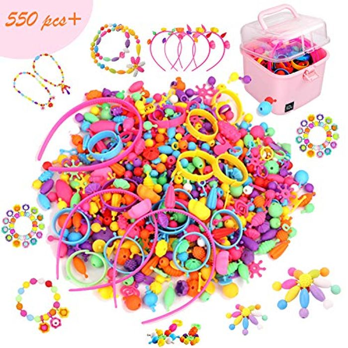 EPCHOO DIY 550+ PCS Beads Set for Jewellery Making - Only £7.14!