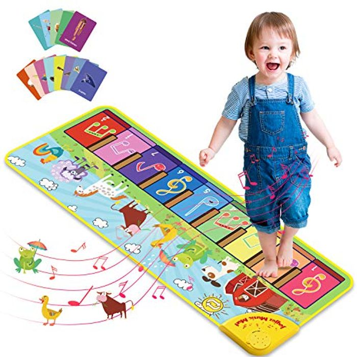 Joyjoz Kids Piano Mat with 25 Sounds for Toddlers - Only £13.79!