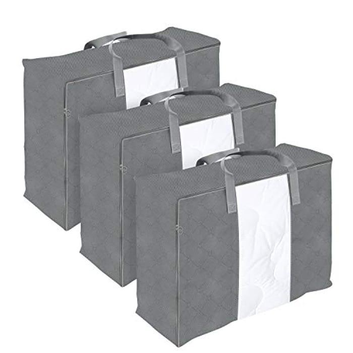 DIMJ Portable Large 3 Pack Duvet Storage Bag, Grey - Only £9.99!