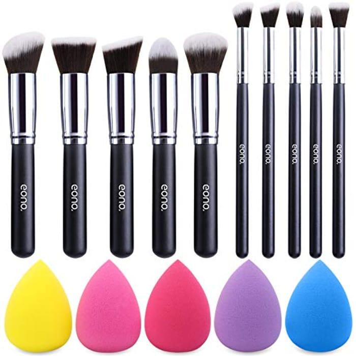 Deal STack! Eono Makeup Brush Set (10+5 Pcs)