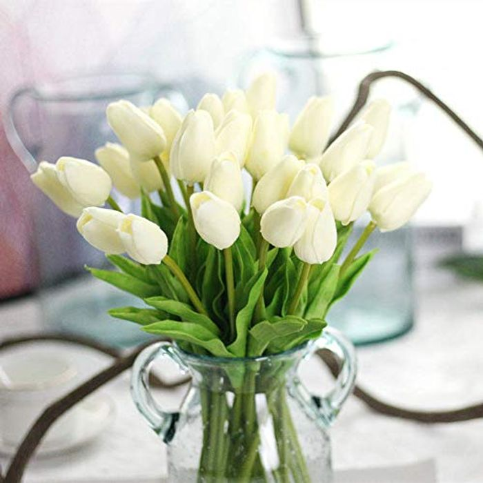 10 Pcs Artificial Tulips Flowers for Home Decor